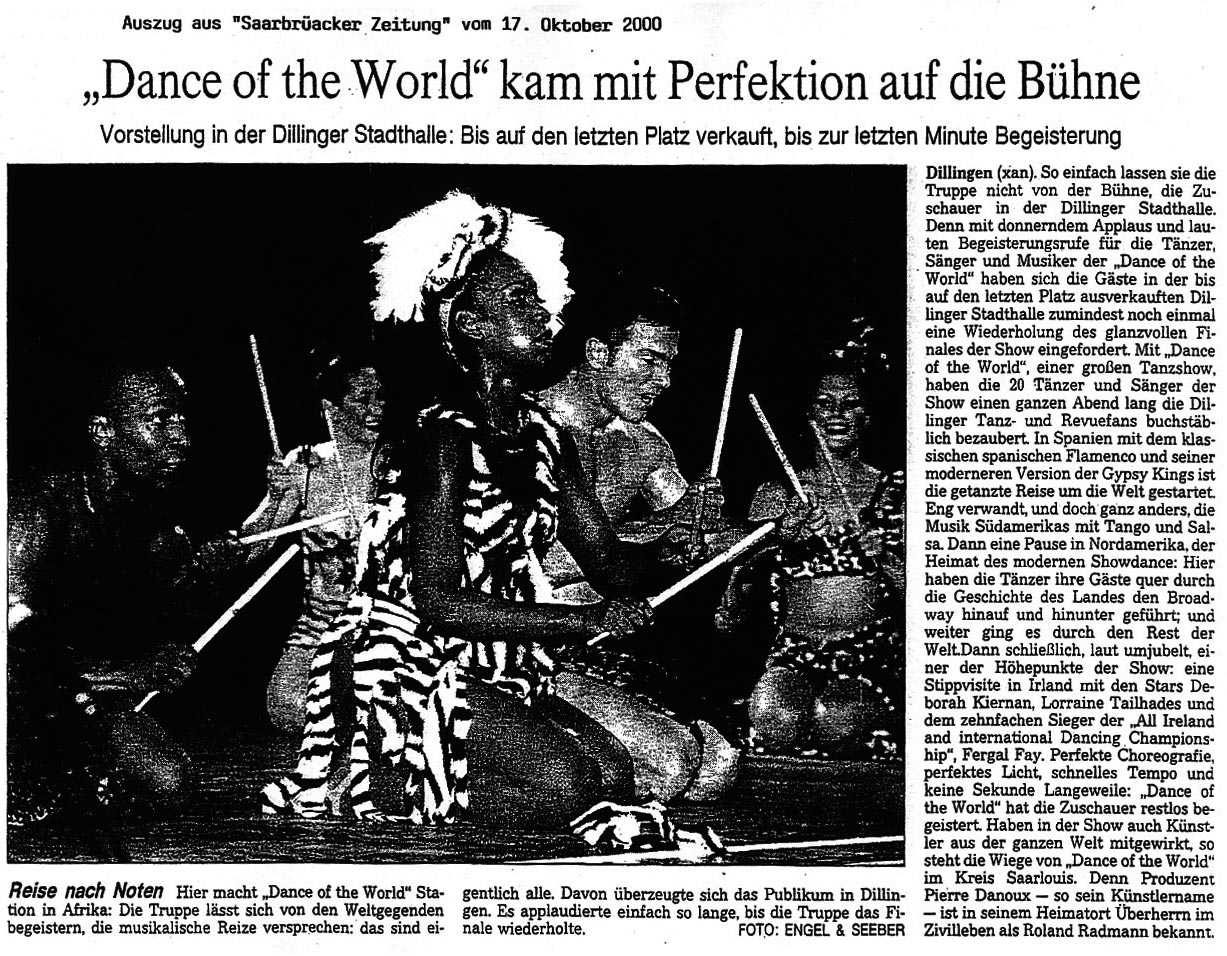 Dance of the World Pressestimmen